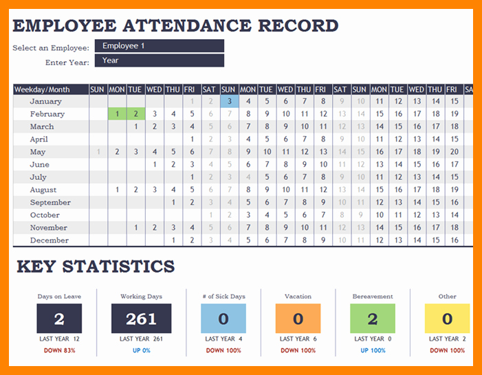 Employee attendance Record Template Beautiful Employee attendance Tracking – Emmamcintyrephotography