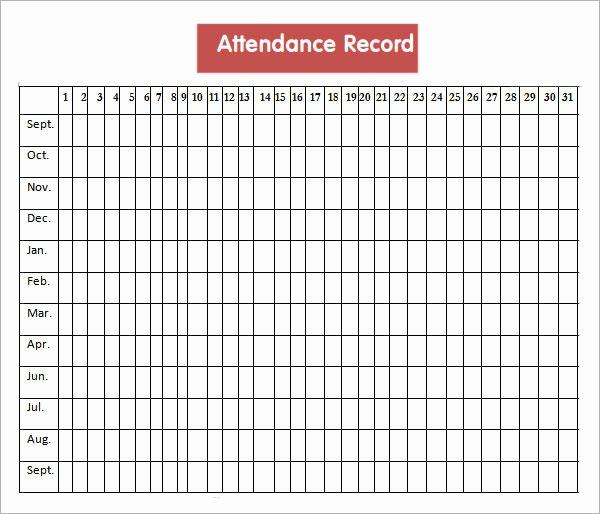 Employee attendance Record Template Elegant Get Printable Calendar Employee attendance Calendar