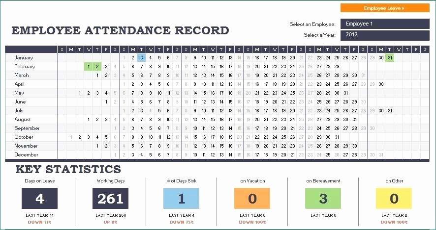 Employee attendance Record Template Fresh Employee attendance Records Luxurious Employee attendance