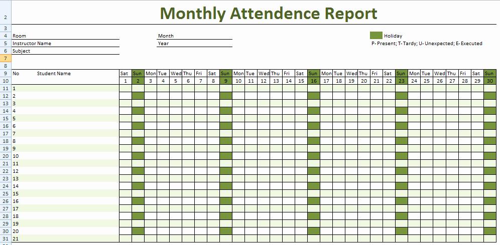 Employee attendance Record Template Lovely Employee attendance Sheet Tracker