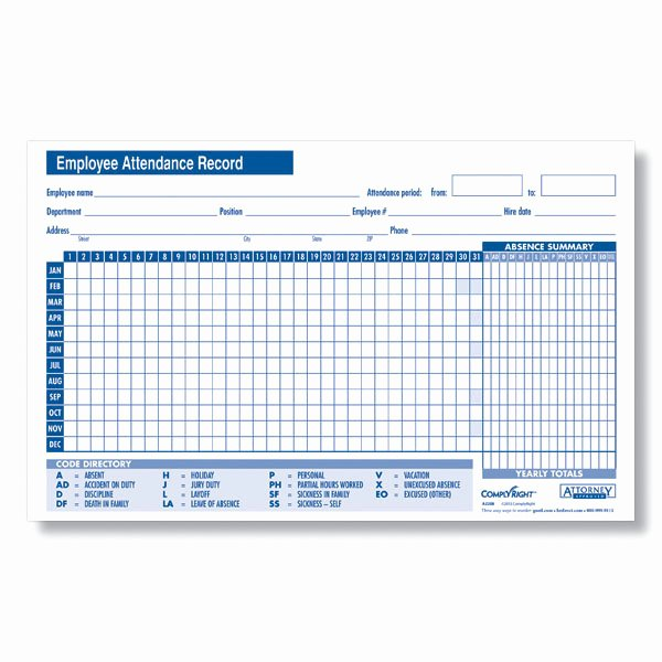 Employee attendance Record Template Luxury 24 Best Samples Of attendance Sheet for Employees Thogati