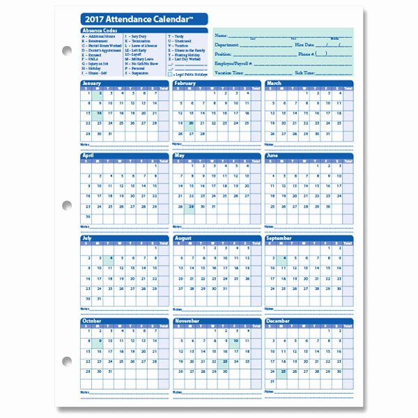 Employee attendance Records Template Beautiful Monthly Employee attendance Calendar Sheets Blank forms