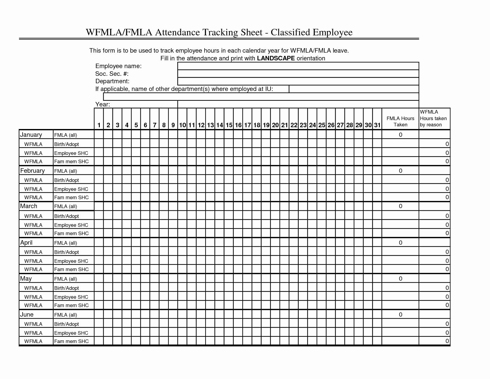 Employee attendance Records Template Fresh Employee attendance Calendar Template 2015 Free Printable