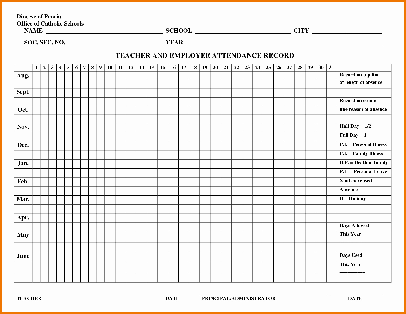 "Employee attendance Records Template Luxury Search Results for ""sample Employee attendance Sheet"
