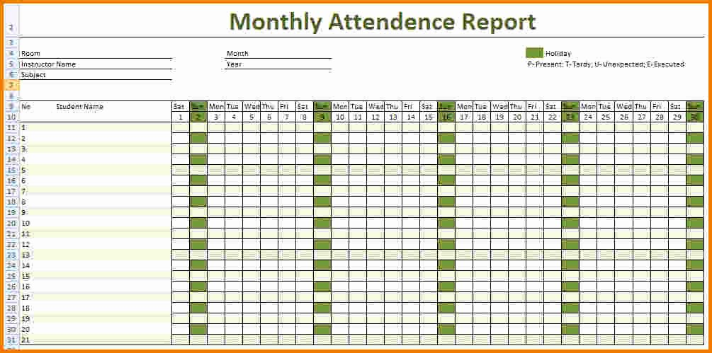Employee attendance Records Template New 4 Employee attendance Sheet