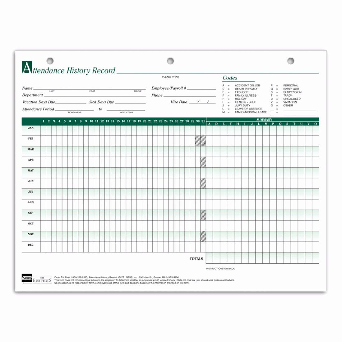 Employee attendance Records Template New Employee attendance Sheets