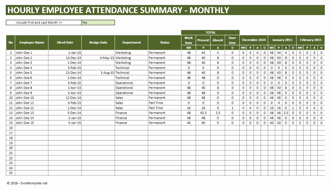 Employee attendance Tracker Template Awesome Employee Vacation Planner