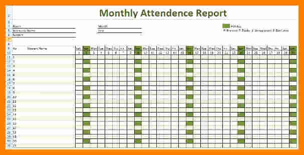 Employee attendance Tracker Template Beautiful 11 Employee attendance Tracker