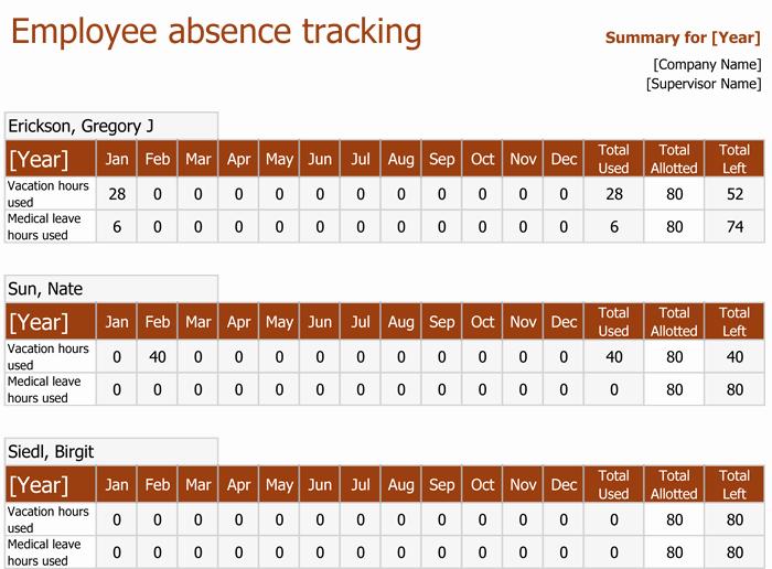 Employee attendance Tracker Template Beautiful attendance Tracking Templates 6 Excel Trackers and Calendars