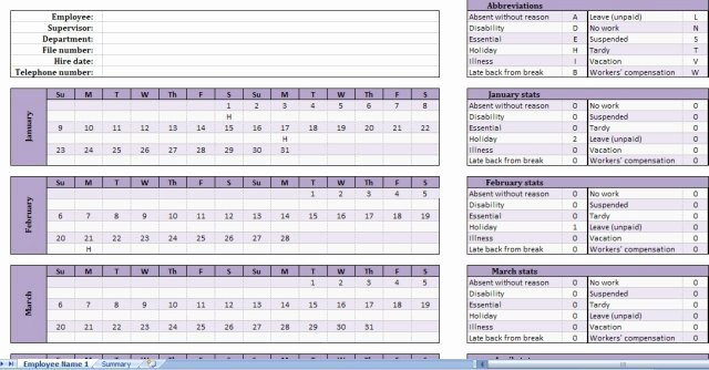 Employee attendance Tracker Template Best Of Free Employee attendance Tracker Get attendance Tracking