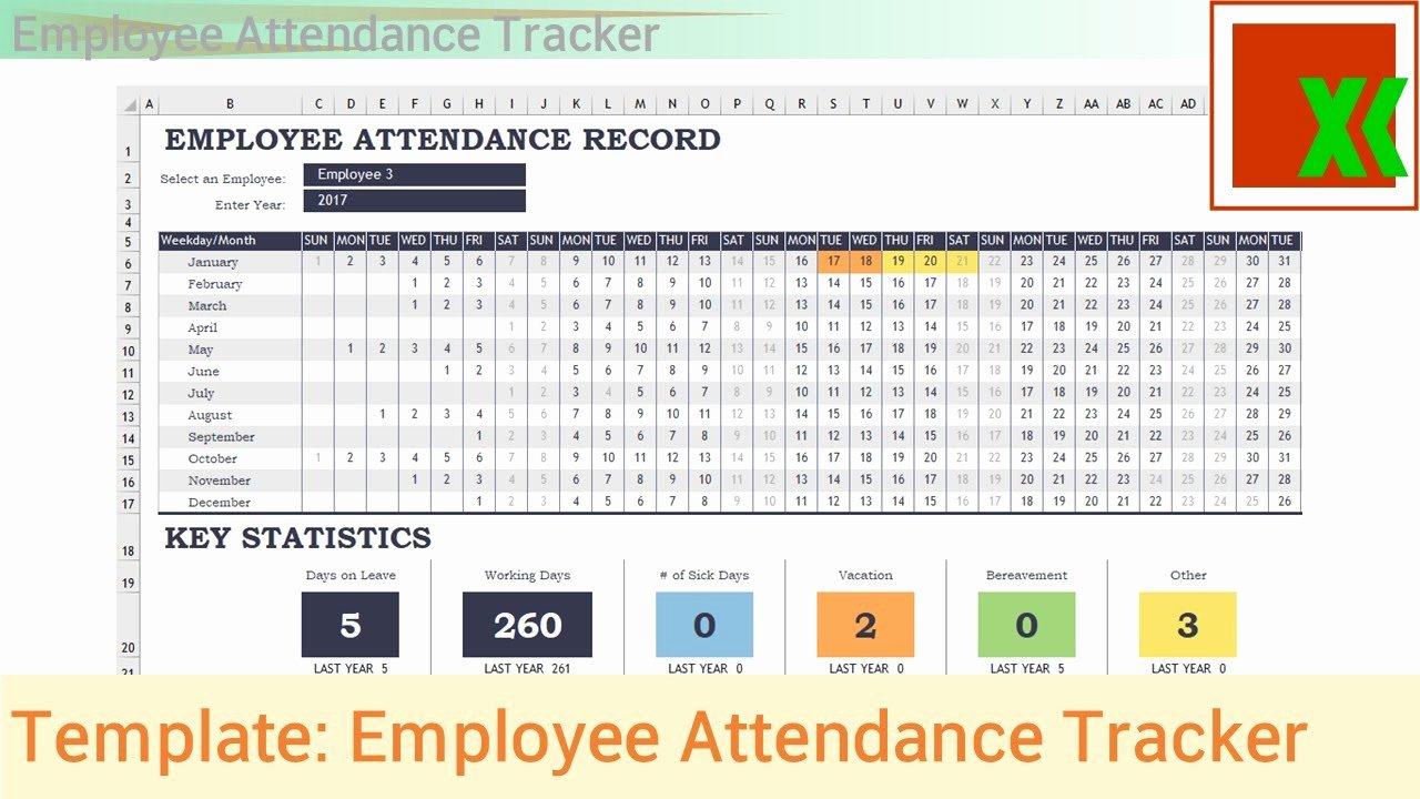 Employee attendance Tracker Template Fresh Excel Template Employee attendance Tracker