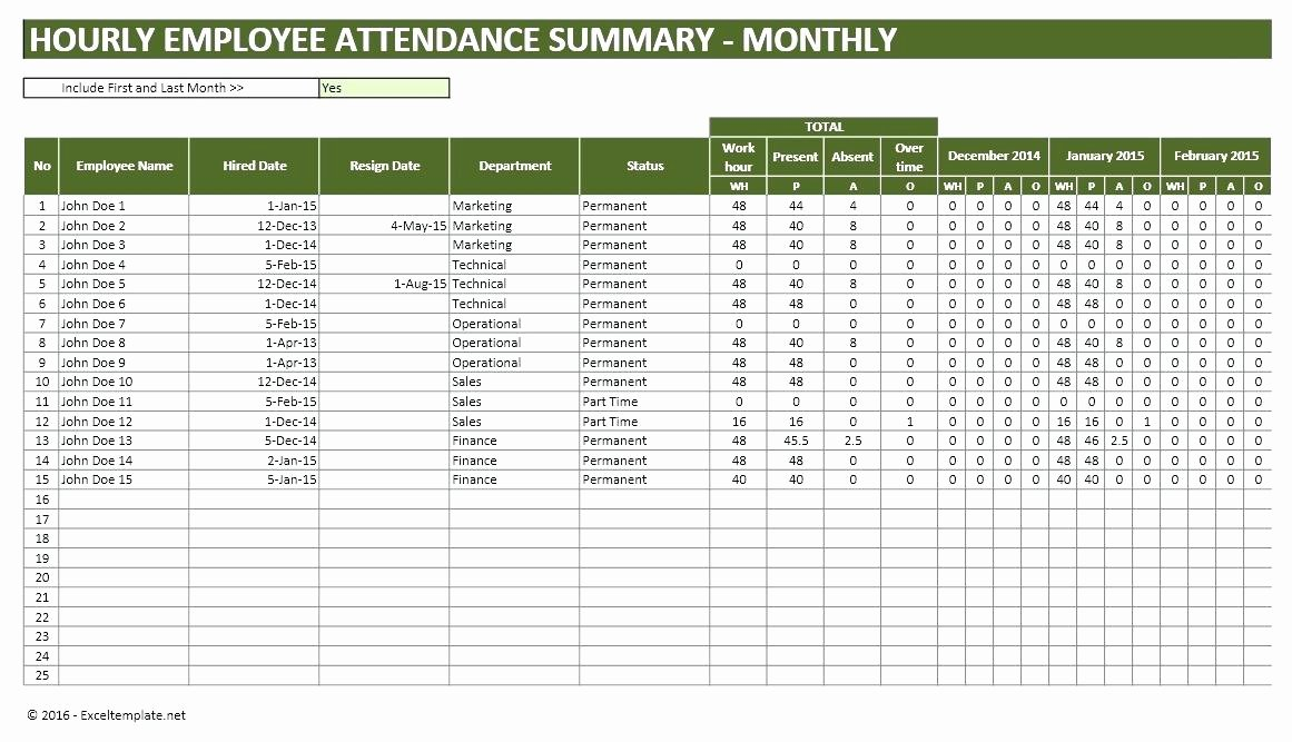 Employee attendance Tracker Template Luxury Employee attendance Sheet Excel Free Download and Time