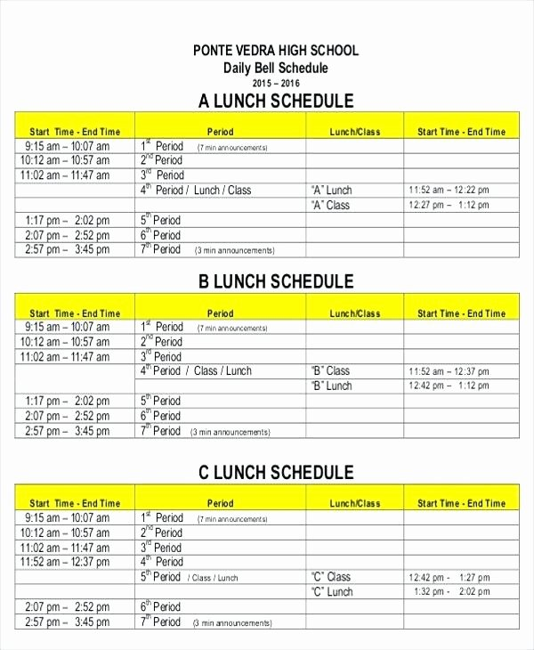 Employee Break Schedule Template Awesome Employee Vacation Schedule Template 2016 Business Request