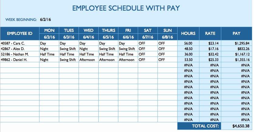 Employee Break Schedule Template Fresh Free Daily Schedule Templates for Excel Smartsheet