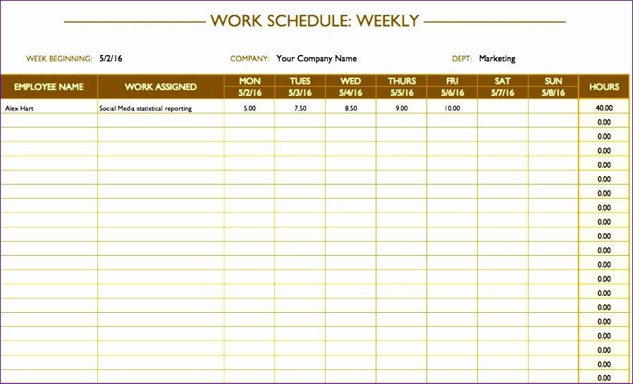 Employee Break Schedule Template Inspirational 7 Break Schedule Template Excel Exceltemplates