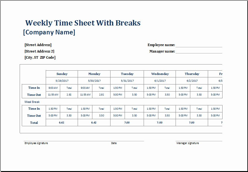Employee Break Schedule Template Lovely Employee Lunch Break Schedule Template Templates