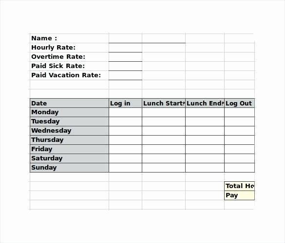 Employee Break Schedule Template Luxury Weekly Employee Template Lunch Break Schedule – Chaseevents