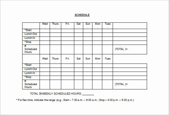Employee Break Schedule Template New Employee Lunch Schedule Template Templates Resume
