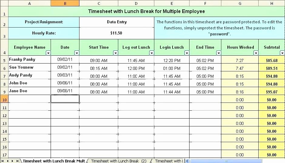 Employee Break Schedule Template New Employee Vacation Planner Template Excel 2018 This Simple
