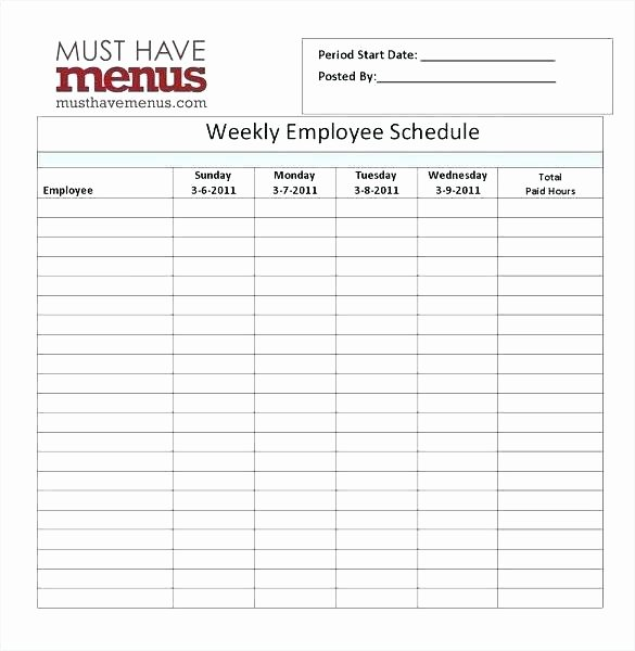 Employee Break Schedule Template Unique Lunch Break Schedule Template Employee Lunch Schedule