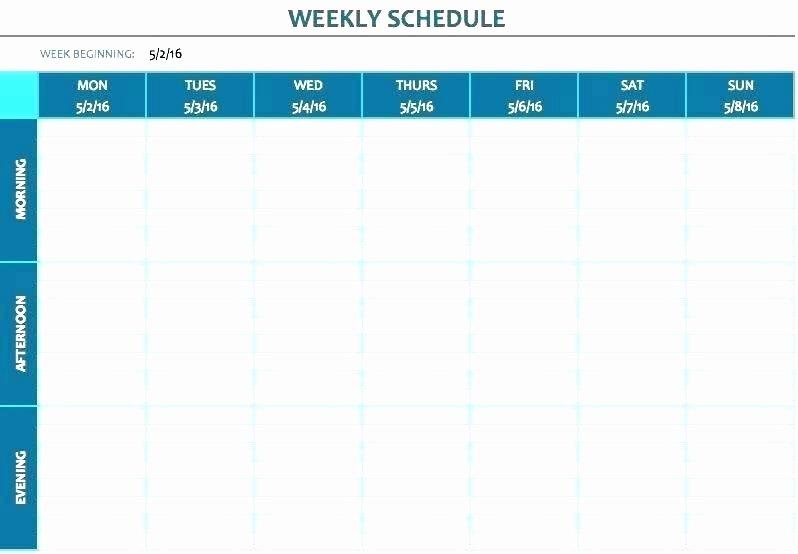 Employee Break Schedule Template Unique Planning Excel Template Full Size Medium