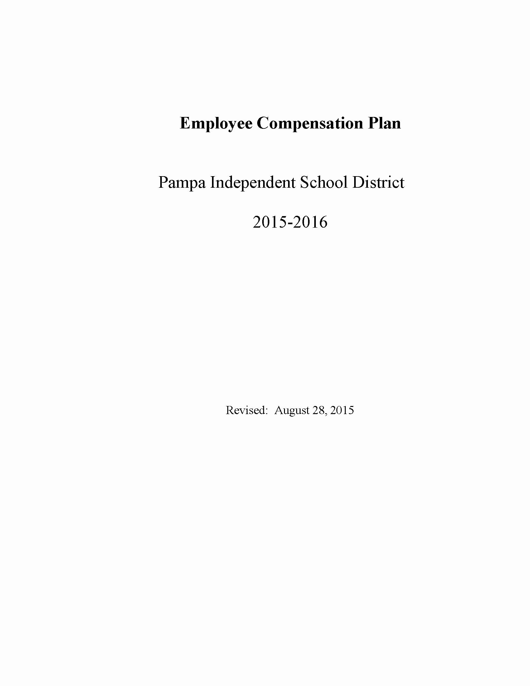 Employee Compensation Plan Template Awesome Employee Pensation Plan Template Pdf format