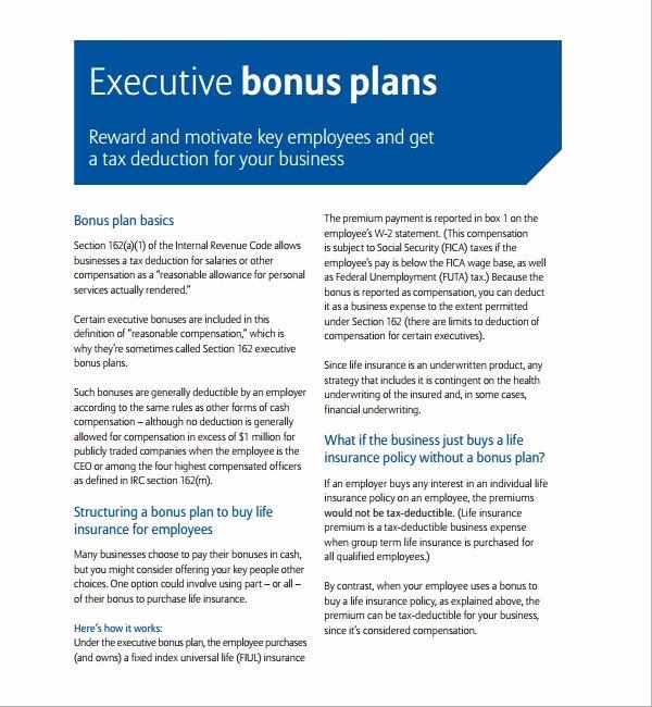 Employee Compensation Plan Template Best Of Sample Bonus Plan Template 7 Free Documents In Pdf
