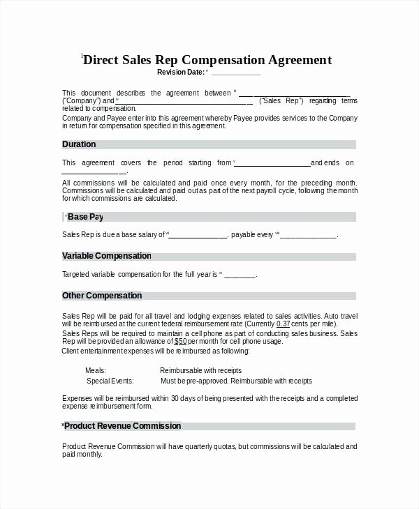 Employee Compensation Plan Template New Employee Pensation Plan Example Sample Pay Plans Sales