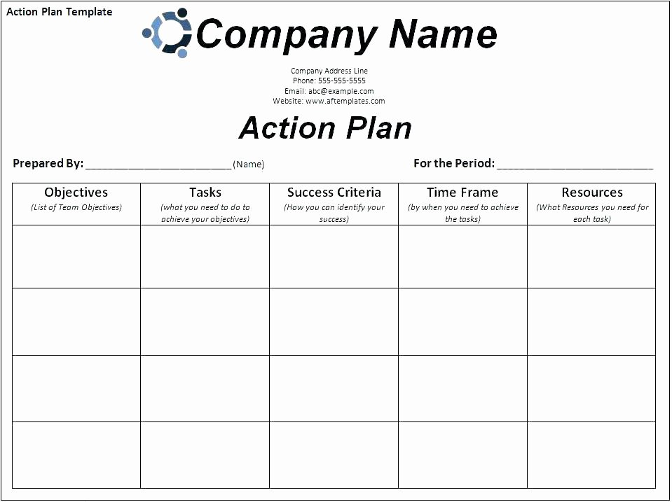 Employee Corrective Action Plan Template Beautiful Employee Action Plan Template Excel Corrective Free Word