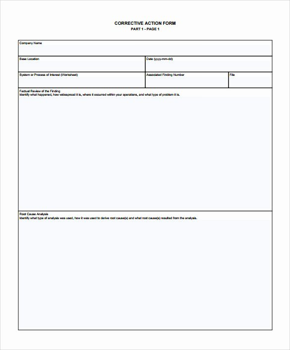Employee Corrective Action Plan Template Beautiful Sample Corrective Action Plan Template 9 Documents In