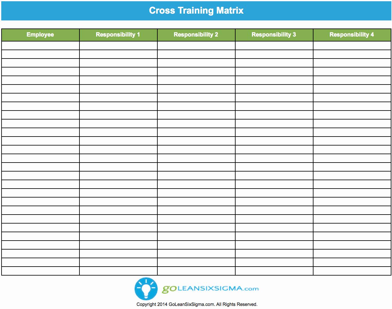 Employee Cross Training Template Best Of Cross Training Matrix