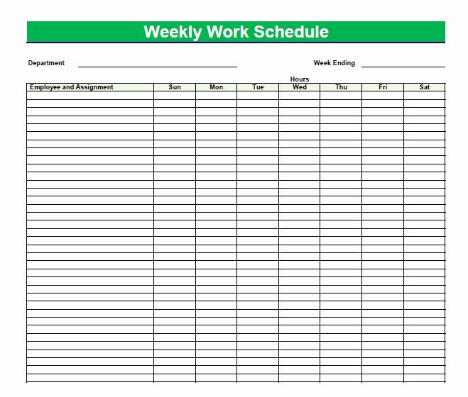 Employee Daily Work Schedule Template Lovely Blank Time Sheets for Employees