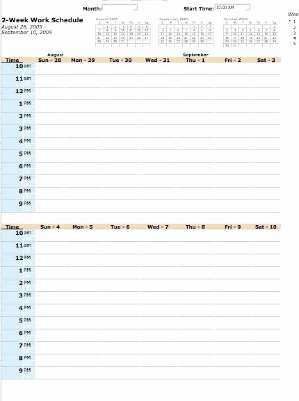 Employee Daily Work Schedule Template Lovely Weekly Employee Shift Schedule Template with Work for