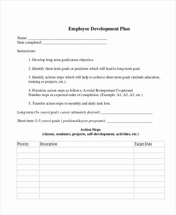 Employee Development Plan Template Awesome 6 Development Plan Samples & Templates