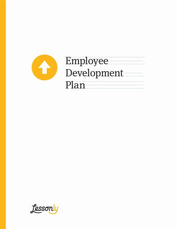 Employee Development Plan Template Beautiful Free Employee Development Plan Template Lessonly
