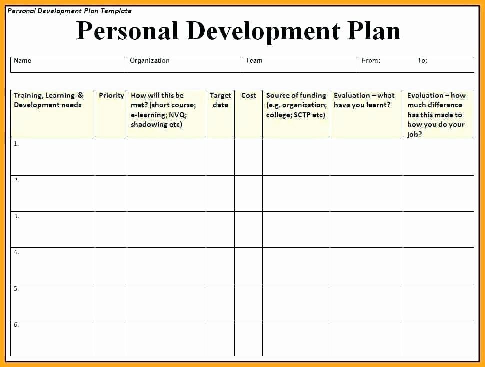 Employee Development Plan Template Fresh Employee Professional Development Plan Template – asctech