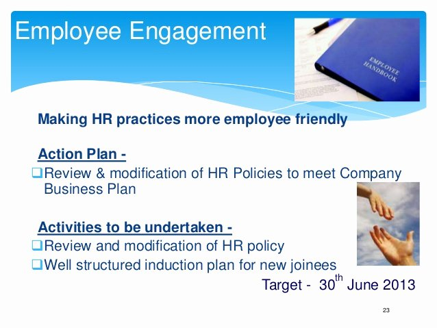Employee Engagement Action Plan Template Fresh Annual Business Plan Hr Template Play This In Slide Show