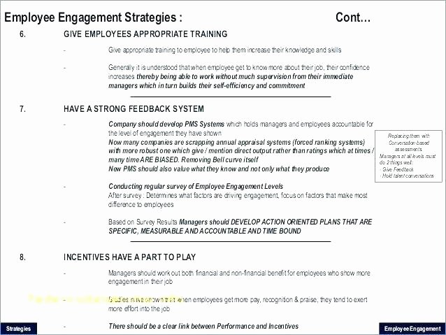 Employee Engagement Action Planning Template Elegant Performance Action Plan Sample Extraordinary Editable