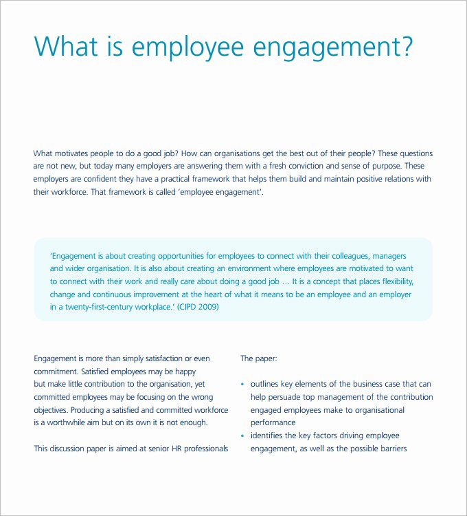Employee Engagement Action Planning Template Inspirational Hr Strategy Template 31 Word Pdf Documents Download
