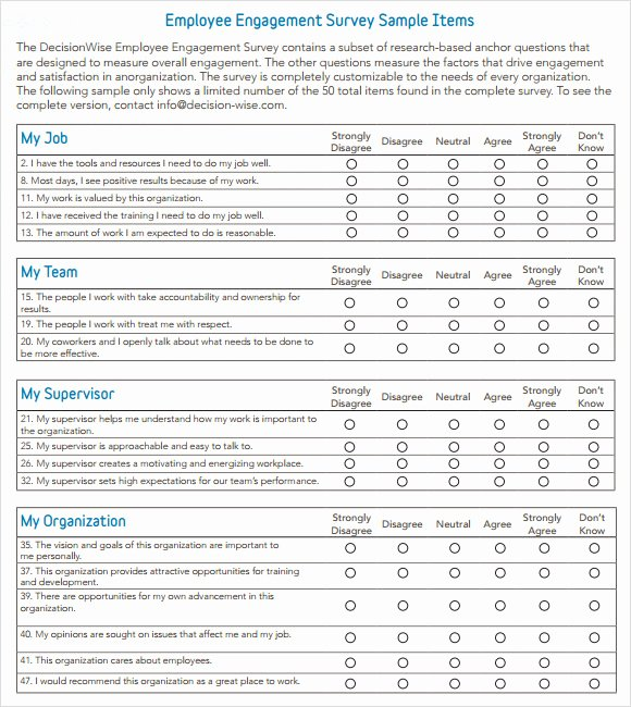 Employee Engagement Plan Template Fresh Employee Engagement Survey Question Templates Resume