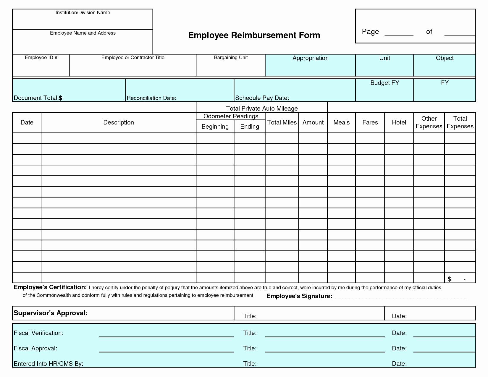 Employee Expense Report Template Awesome Employee Expense Report Template Sample Worksheets Free