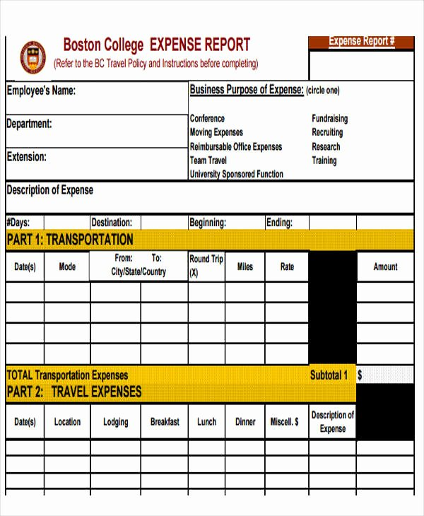 Employee Expense Report Template Best Of 29 Expense Report Template In Pdf