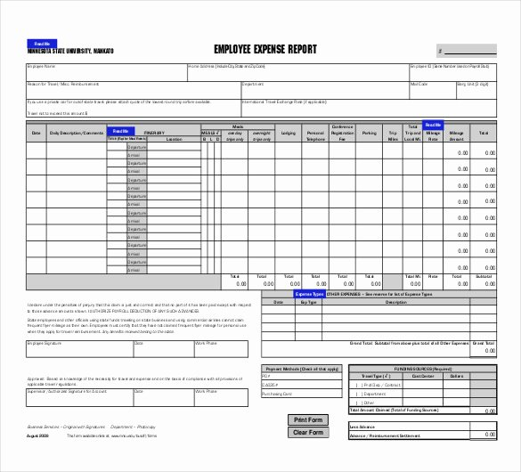 Employee Expense Report Template Elegant 27 Expense Report Templates Pdf Doc