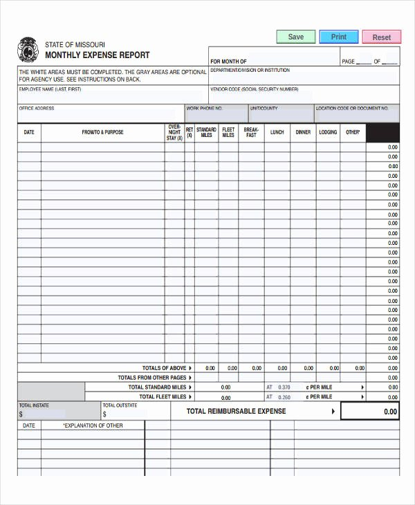 Employee Expense Report Template Elegant 35 Expense Report Templates Word Pdf Excel