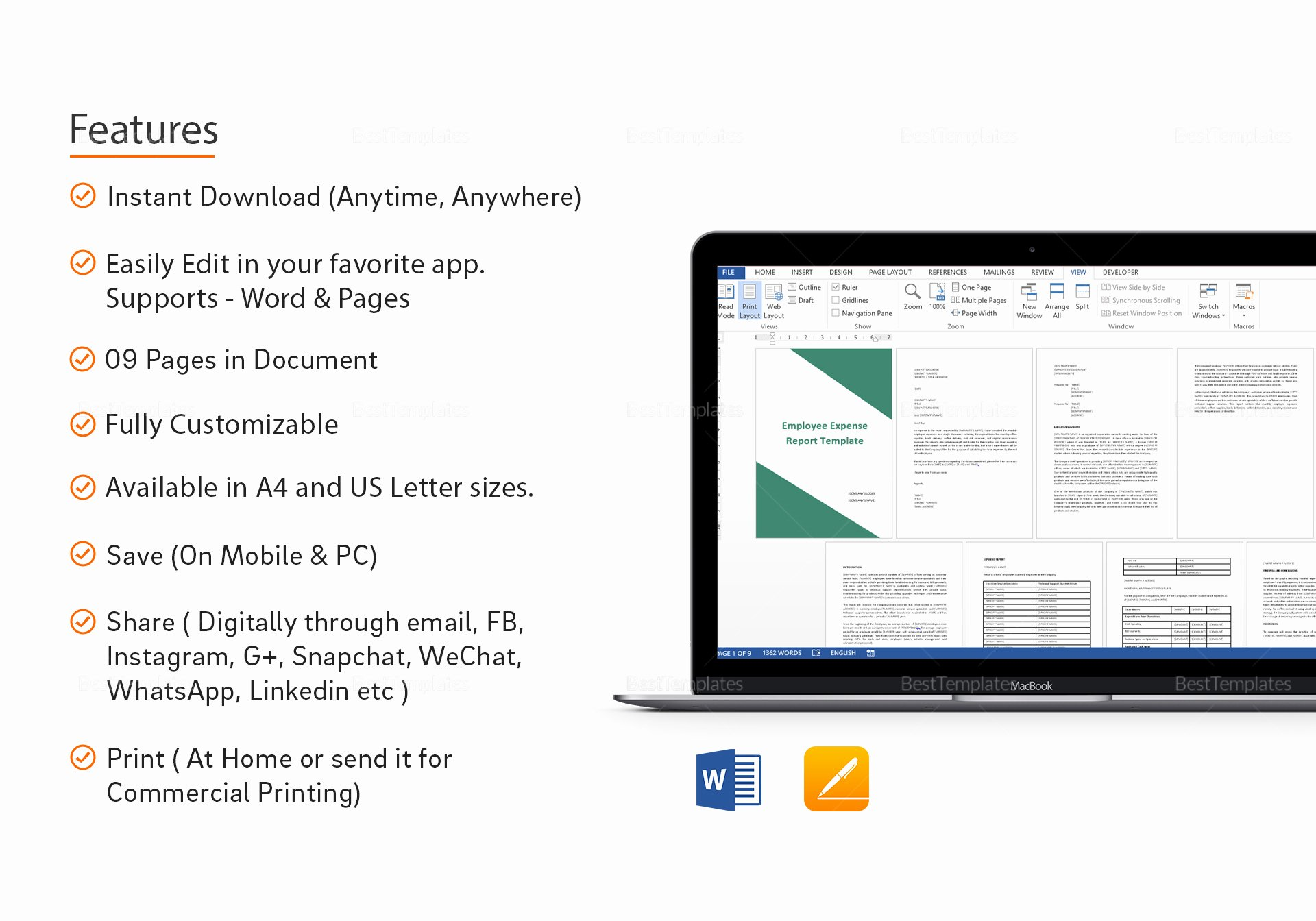 Employee Expense Report Template Unique Employee Expense Report Template In Word Google Docs