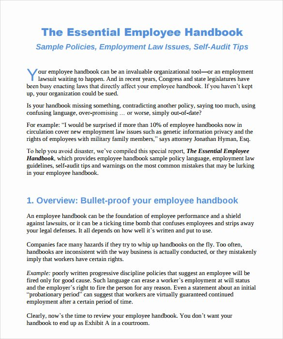Employee Handbook Design Template Beautiful 10 Employee Handbook Sample Templates