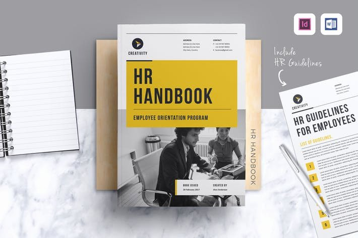 Employee Handbook Design Template Elegant Hr Employee Handbook by Leaflove On Envato Elements