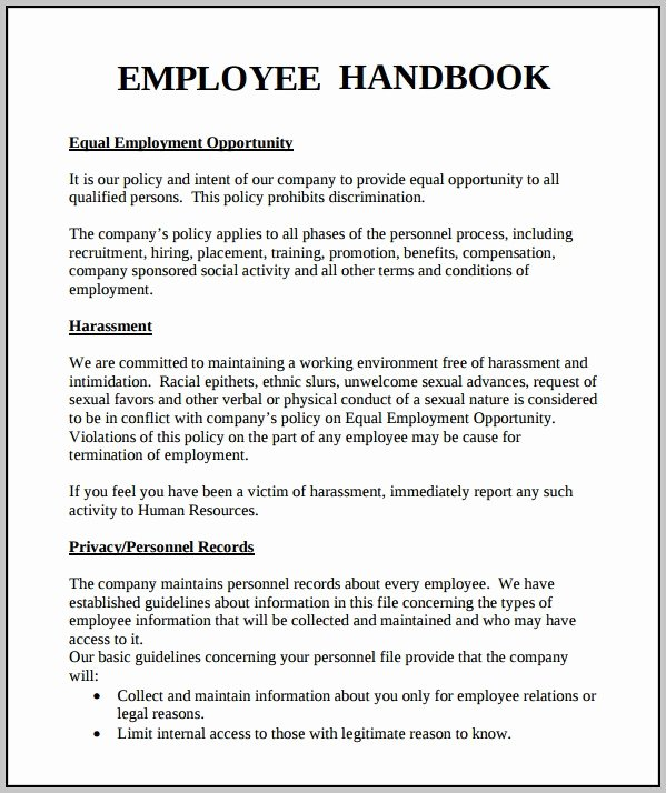 Employee Handbook Design Template Lovely Employee Handbook Template Word Free Template Resume
