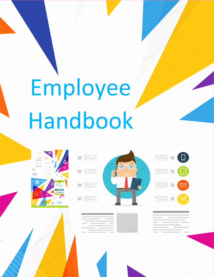 Employee Handbook Design Template Luxury Employee Handbook Template Free Printable Sample
