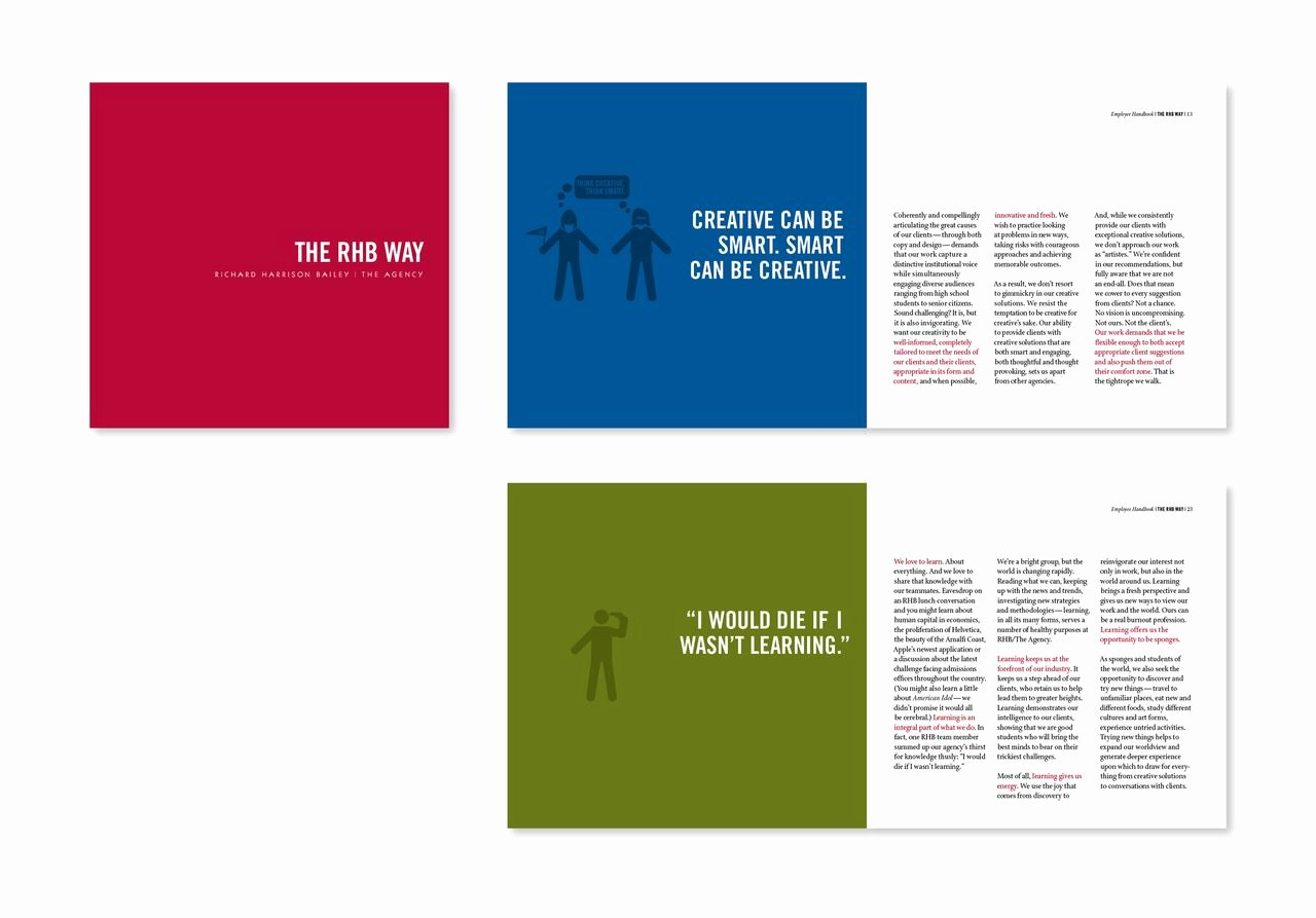 Employee Handbook Design Template Unique Emphasis within Text